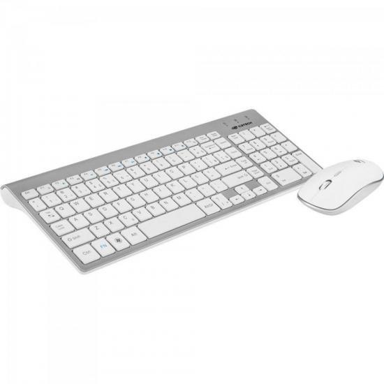 Kit Teclado + Mouse sem Fio K-W510SWH Branco C3TECH