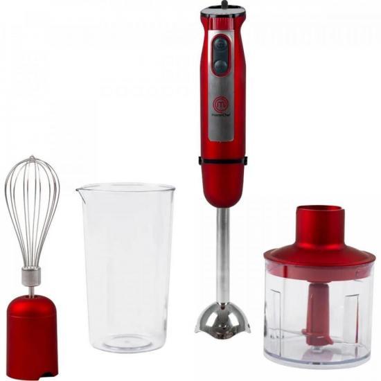 Mixer de Mão Premium com Acessórios MI3001V 700W 220V Vermelho MASTER CHEF