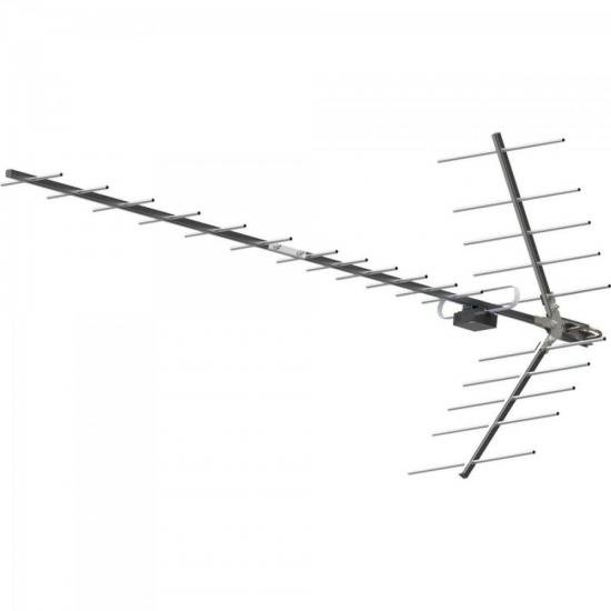 Antena UHF Digital Yagi Alto Ganho Banda Total 15 DBI PROHD-1115 Cinza
