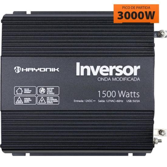 Inversor de Onda Modificada 1500W 12VDC/127V PW11-3 HAYONIK (67211)