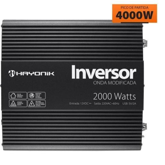 Inversor de Onda Modificada 2000W 12VDC/220V PW11-5 HAYONIK (67213)