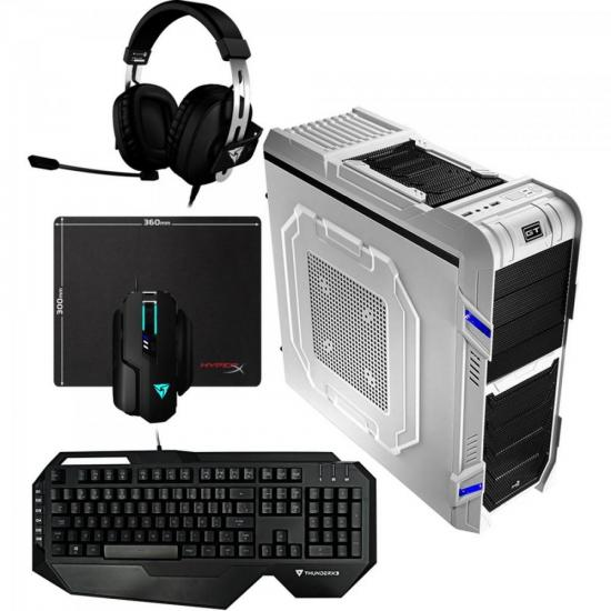 Kit Gabinete Gamer GT-R EN52193 Branco AEROCOOL + Teclado + Acessórios