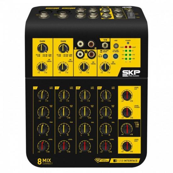 Mesa de Som 8 Canais Mix Connect SKP