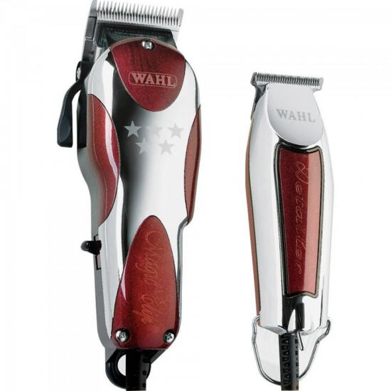 Kit Máquina de Corte Magic Clip + Detailer 220V WAHL (67294)