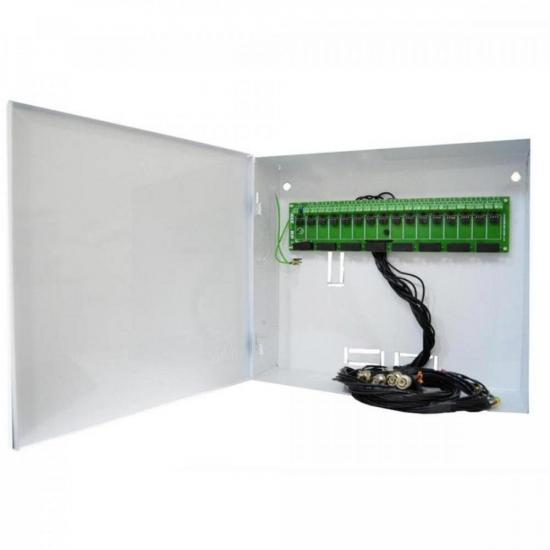 Rack Organizador para CFTV BNC 16 Canais Branco MAX ELETRON (67420)