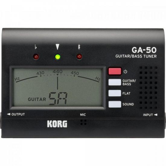 Afinador Para Guitarra e Baixo GA-50 Preto KORG