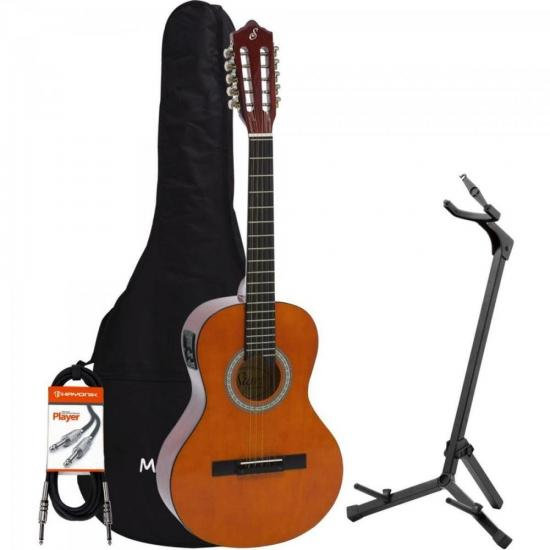 Kit Viola Eletroacústica VS14EQ Natural GIANNINI + Acessórios (67451)
