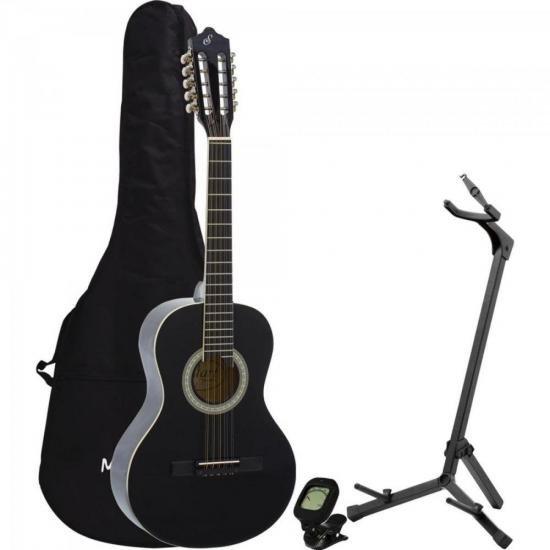 Kit Viola Acústica VS14 Preto GIANNINI + Acessórios