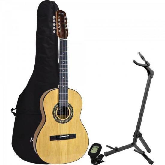 Kit Viola Acústica RV155ACN Natural ROZINI + Acessórios