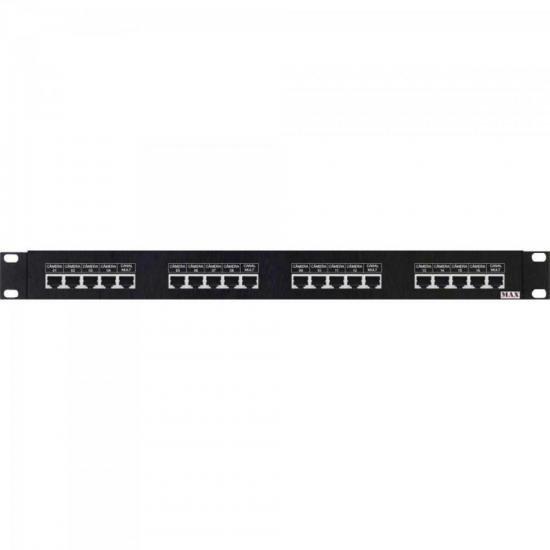 Rack Para CFTV MULTI 19'' HD Power Balun Rack 16 Canais HÍBRIDO MAX (67464)