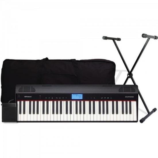 Kit Piano GO-61P Preto ROLAND + Acessórios (67508)