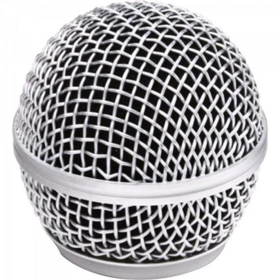 Globo Metálico para Microfone sem Fio 54mm Prata MXT (67552)