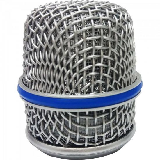 Globo Metálico para Microfone 47mm BTM57 Prata MXT (67553)