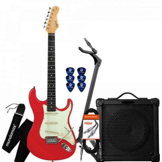 Kit Guitarra EA-PRO 2 Fiesta Red TAGIMA + Cubo + Acessórios