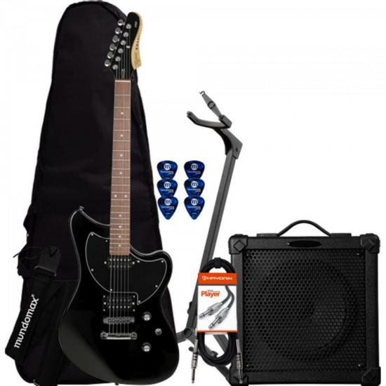 Kit Guitarra ROCKER Preta TAGIMA + Cubo + Acessórios