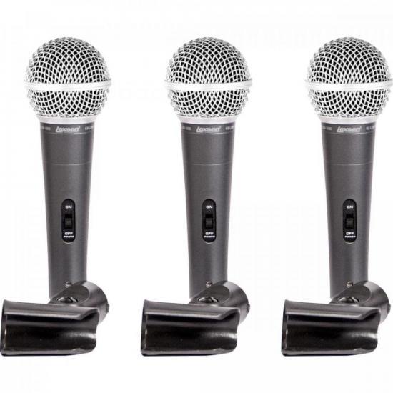 Kit de Microfones com 3 Supercardioide LCM1800 LEXSEN (67710)