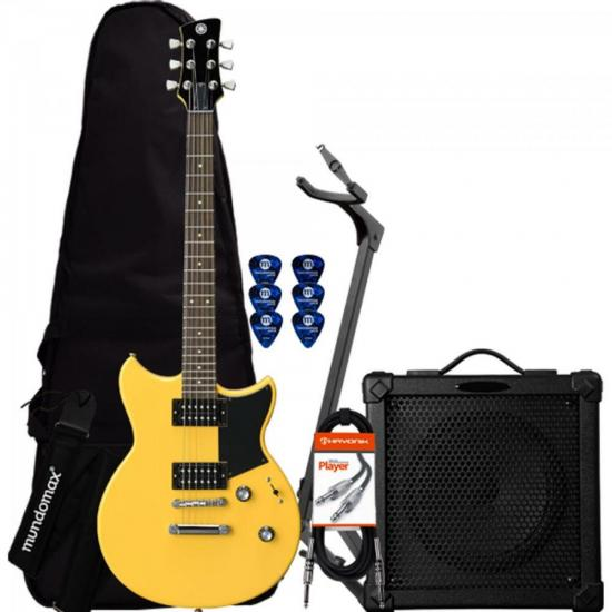 Kit Guitarra Revstar RS320Y Amarela YAMAHA + Cubo + Acessórios