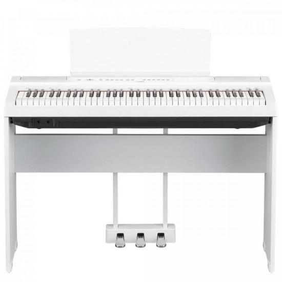 Kit Piano Digital YAMAHA P121WH Branco + Acessórios (68170)