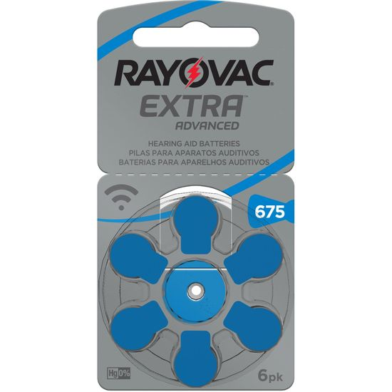 Pilha Auditiva 675 SM60 Extra Advanced RAYOVAC (68223)