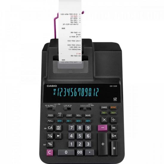 Calculadora com Bobina DR-120R-BK Preta CASIO (68424)