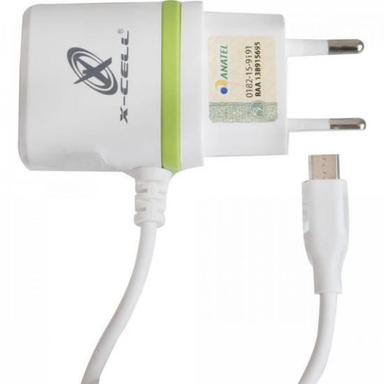 Carregador Ultra Micro USB XC-V8-GLX Branco X-CELL FLEX