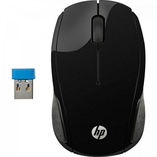 Mouse Wireless S/ Fio X200 Oman Preto HP (68774)