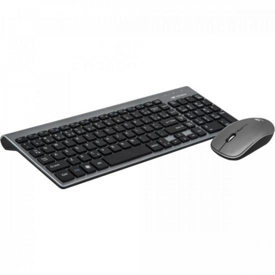 Combo Teclado + Mouse sem Fio K-W510SBK Preto C3TECH (68793)