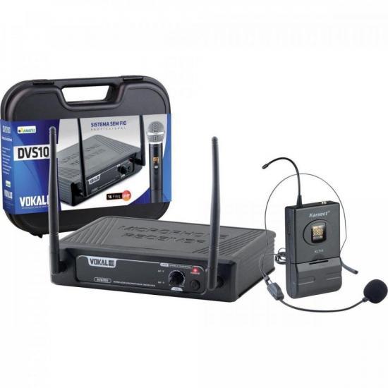 Microfone Sem Fio Headset DVS100SH VOKAL (70141)