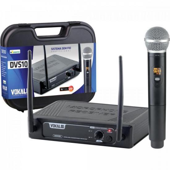 Microfone Sem Fio de Mão DVS100SM VOKAL (70142)