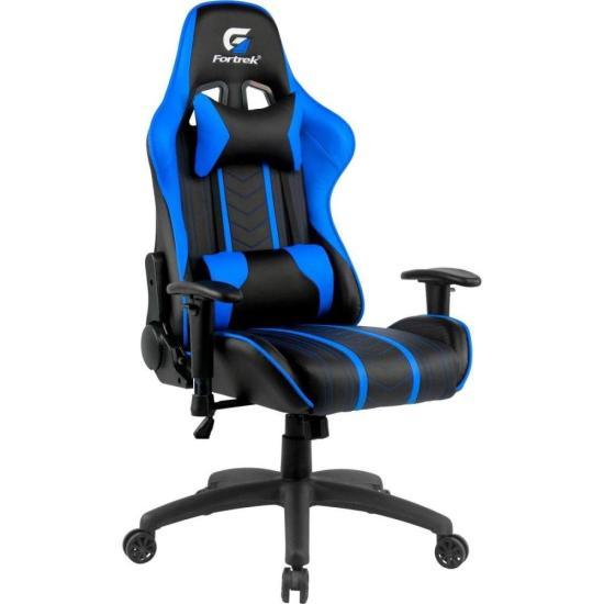 Cadeira Gamer Black Hawk Preta/Azul FORTREK (70512)
