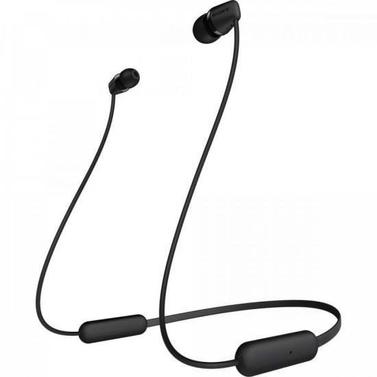 Fone de Ouvido Bluetooth WI-C200 Preto SONY (70679)