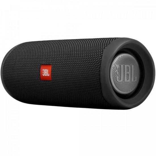 Caixa Multimídia Portátil Bluetooth FLIP 5 Preta JBL (70808)