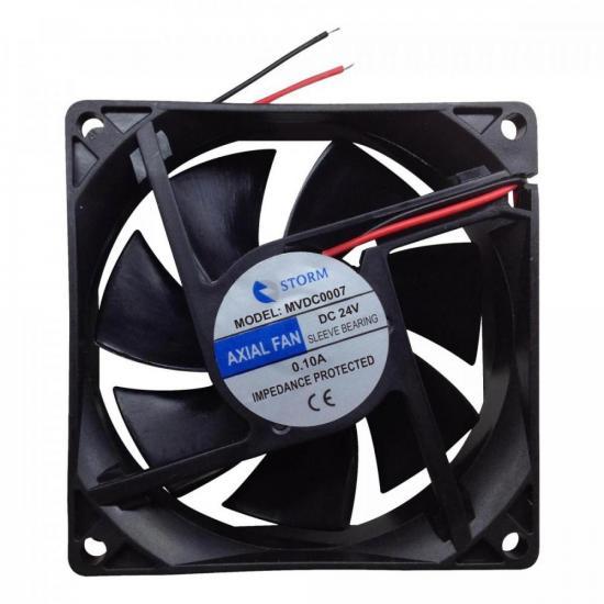 Microventilador 80X80X25mm 24V MVDC0007 Preto STORM