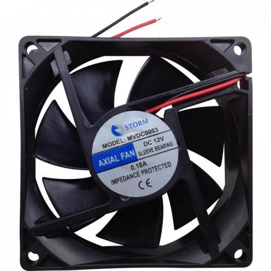 Microventilador 80X80X25mm 12V MVDC0003 Preto STORM