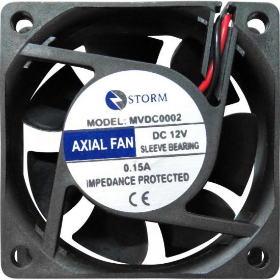 Microventilador 60X60X25mm 12V MVDC0002 Preto STORM