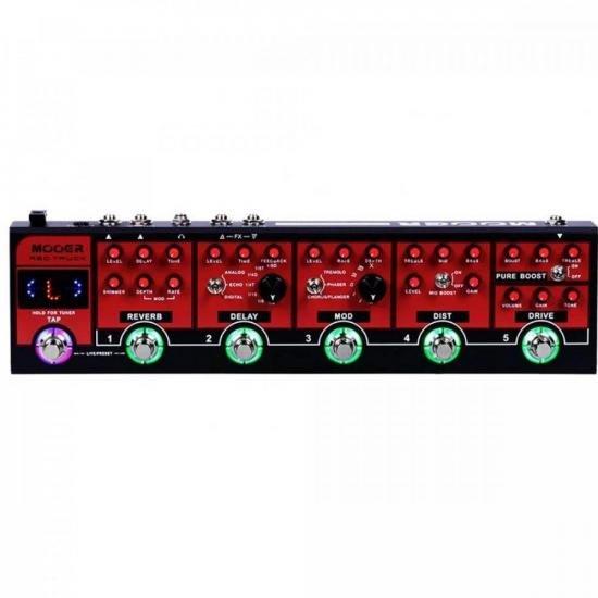 Pedaleira de Efeitos para Guitarra Red Truck MOOER