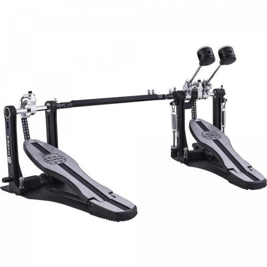Pedal Duplo para Bumbo P600TW Preto MAPEX