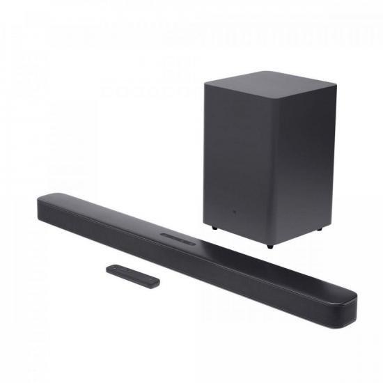 Soundbar 2.1 com Subwoofer Bluetooth 300W Deep Bass Preto JBL (71301)