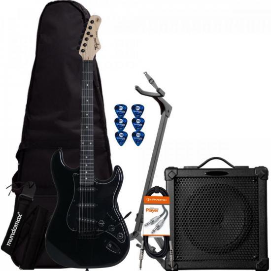 Kit Guitarra TAGIMA TG500 Preta + Cubo + Acessórios (71368)