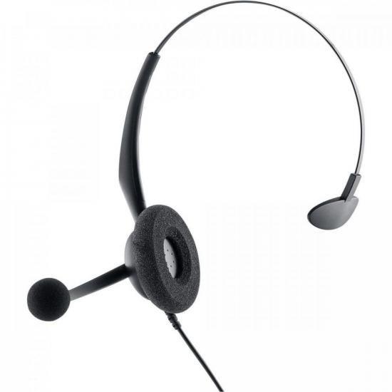 Fone Headset Monoauricular RJ9 CHS 55 Preto INTELBRAS (72025)
