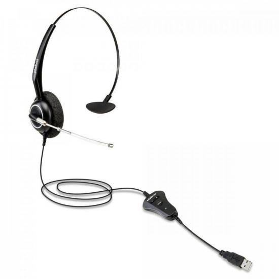 Fone Headset Monoauricular USB THS 55 Preto INTELBRAS (72032)