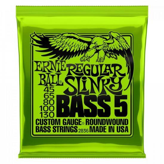 Encordoamento para Contrabaixo 5 Cordas Niquel .045 Regular Slinky 2836 (72347)