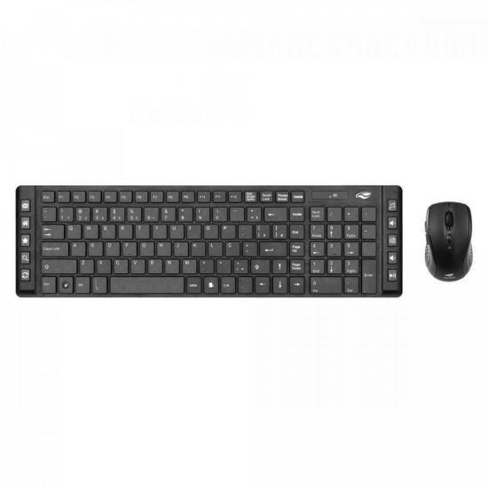 Kit Teclado + Mouse sem Fio K-W50BK Preto C3TECH (72371)