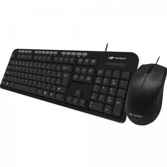 Kit Teclado + Mouse USB KT-100BK Preto C3TECH (72375)