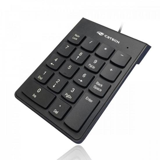 Teclado Numérico USB KN-10 Preto C3TECH (72399)