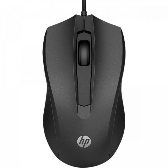 Mouse USB 1600DPI 100 Preto HP (72408)