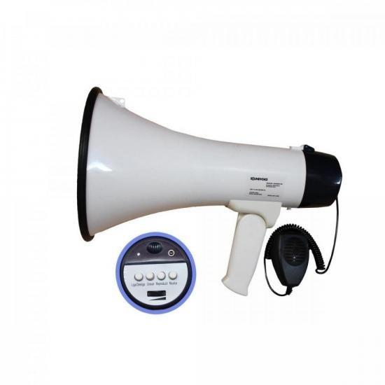 Megafone com Microfone e Sirene 15W 1503X Branco SOUNDVOICE (72568)