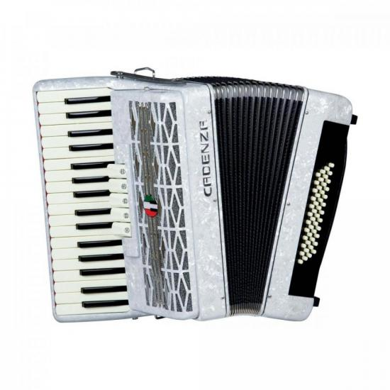 Acordeon 48 Baixos CD48/34 Branco Pérola CADENZA (72850)
