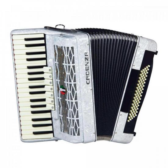 Acordeon 80 Baixos CD80/37 Branca Pérola CADENZA (72855)