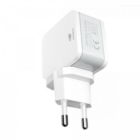 Carregador Universal AC/USB 2 Portas UC-215 Branco C3TECH (73440)